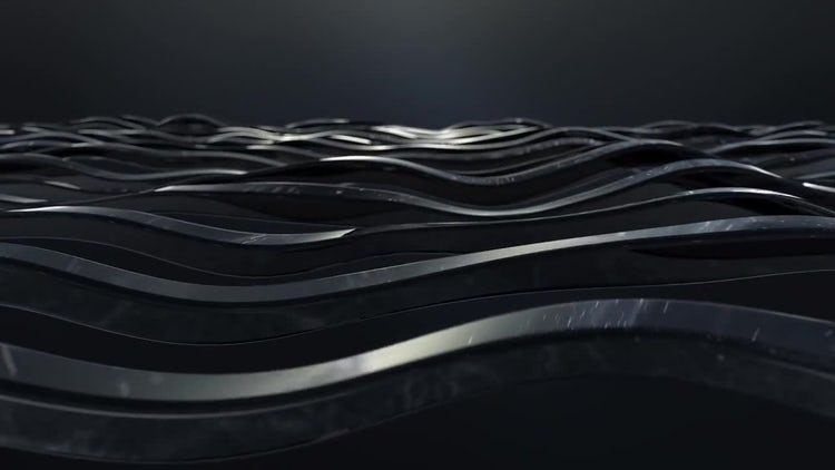 Black Glossy Wave Lines: Stock Motion Graphics