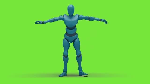 Bot Man Hiphop Dancing: Stock Motion Graphics