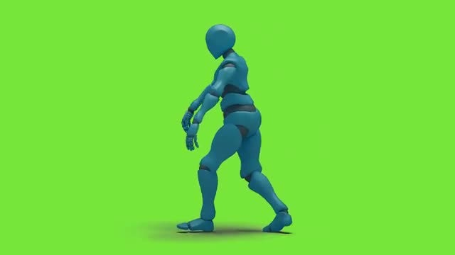 Bot Man Slide Hiphop Dancing: Stock Motion Graphics