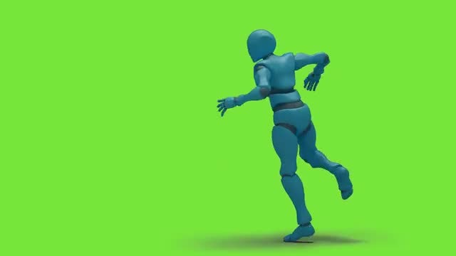 Bot Man Dancing Swing: Stock Motion Graphics