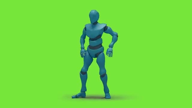 Bot Man Dancing Wave Hiphop: Stock Motion Graphics