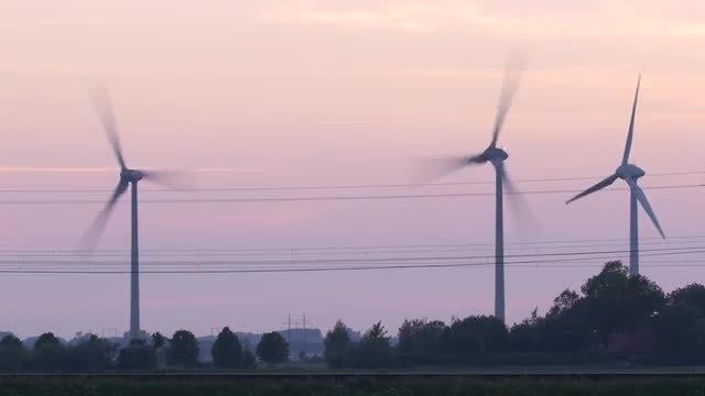 Wind Turbines: Stock Video