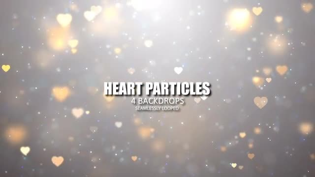Shimmering Heart Particles Pack: Stock Motion Graphics