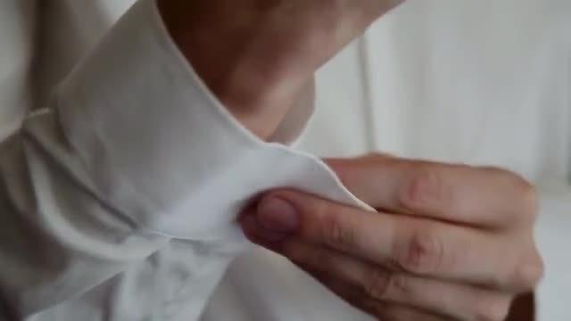 Cufflinks On Sleeves: Stock Video