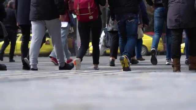 Crowd On Streets: Stock Video