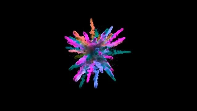 Colorful Powder Explosions Pack: Stock Motion Graphics