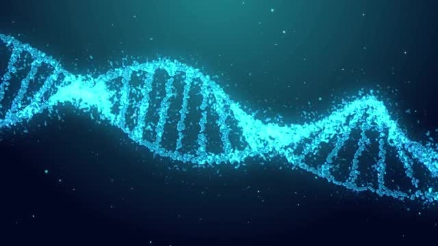 Blue DNA Background: Stock Motion Graphics