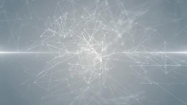 White Plexus Background Loop: Stock Motion Graphics