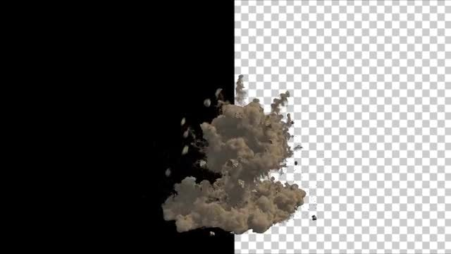Dust And Rubble Explosion: Stock Motion Graphics
