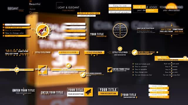 Style And Simple Title Pack: After Effects Templates