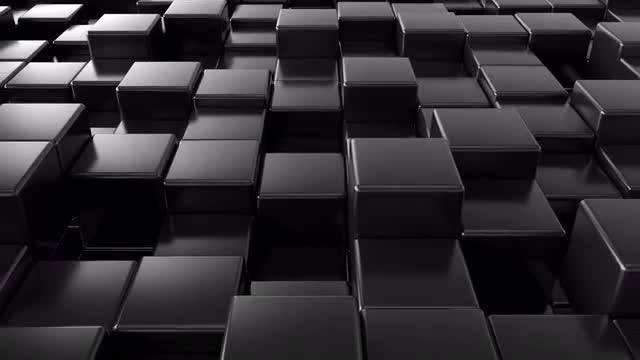 Black Cubes Background V2: Stock Motion Graphics