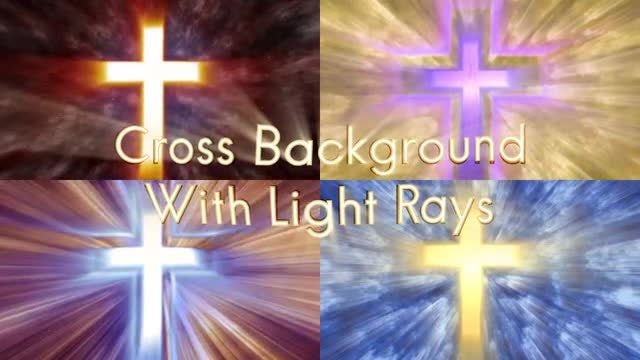 Cross Emanating Light Rays Pack: Stock Motion Graphics