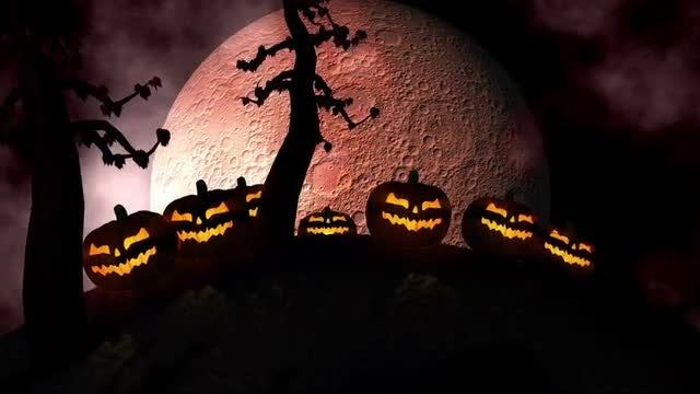 Halloween Background Loop: Stock Motion Graphics