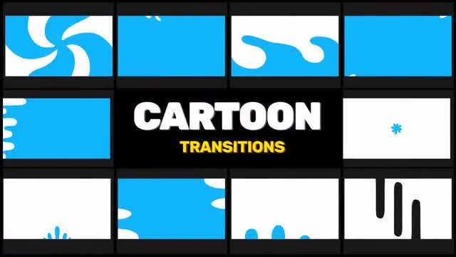 Hand-Drawn Transitions: Cartoon Shapes: Stock Motion Graphics