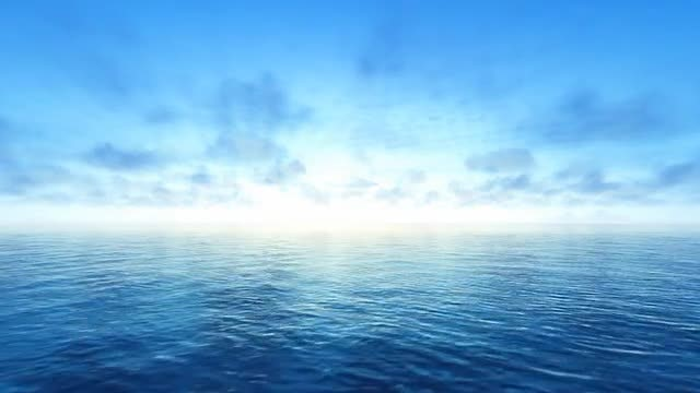 Delightful Blue Sea And Sky: Stock Motion Graphics