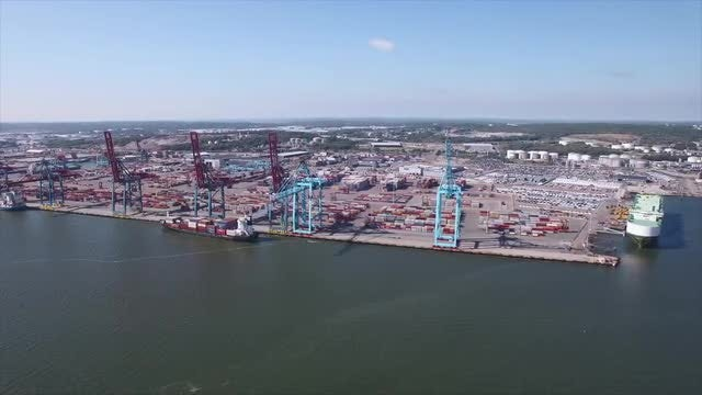 Container Port: Stock Video