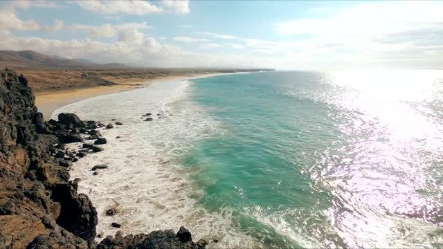 Canary Island Beach: Stock Video