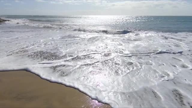 Ocean Water On Sand: Stock Video