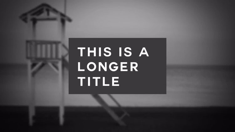Title Pop: After Effects Templates