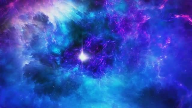 Blue-Purple Space Nebula Tunnel: Stock Motion Graphics