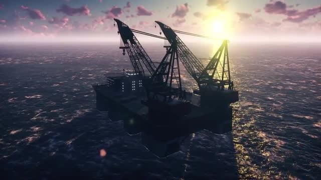 Oil Platform By Purple Horizon: Stock Motion Graphics