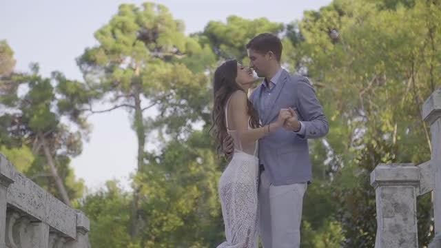 Beautiful Couple Dancing: Stock Video