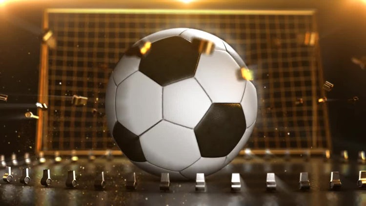 Soccer Golden Goal Background Loop: Stock Motion Graphics