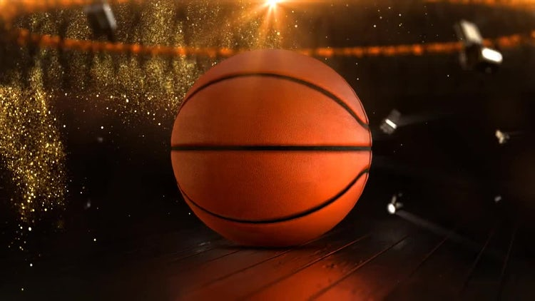 Basketball Sport Background Loop: Stock Motion Graphics