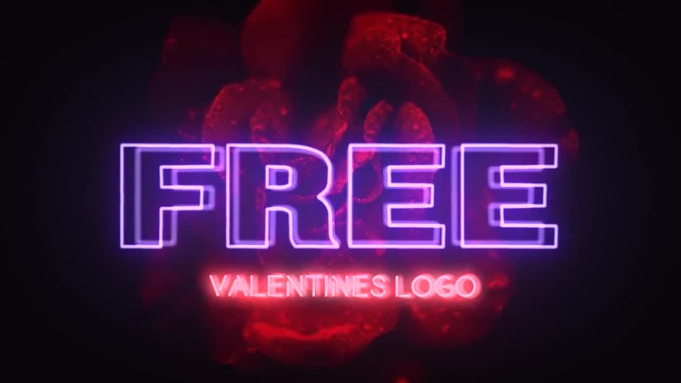 Valentine Neon Logo: After Effects Templates