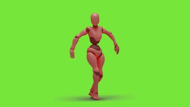 Bot Woman Dancing Freestyle: Stock Motion Graphics