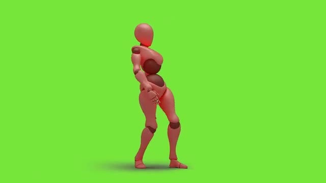 Bot Woman Dancing Hiphop 01: Stock Motion Graphics