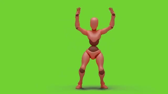 Bot Woman Dancing Hiphop 02: Stock Motion Graphics