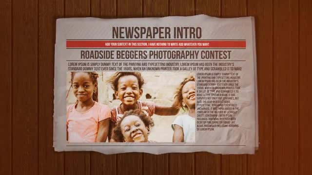Newspaper Intro: After Effects Templates