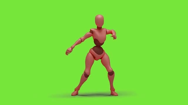 Bot Woman Dancing Hiphop 03: Stock Motion Graphics