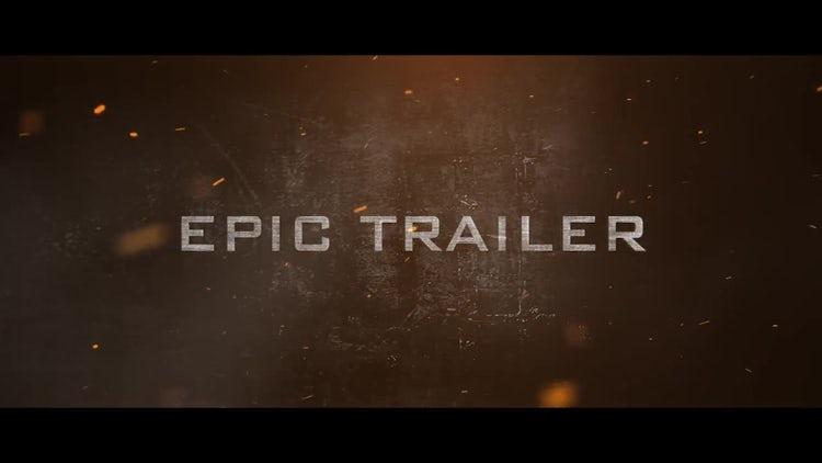 Epic Trailer: Premiere Pro Templates