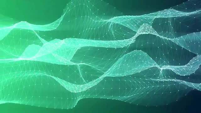 Green Mesh Flow: Stock Motion Graphics