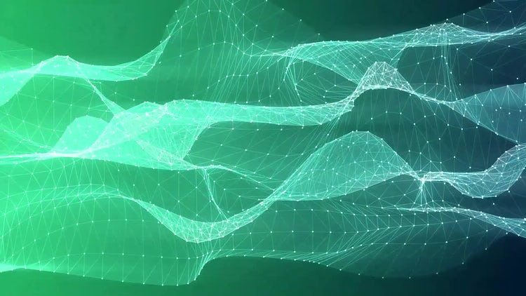 Green Mesh Flow: Motion Graphics