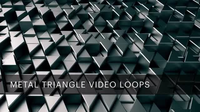 Metal Triangle Video Loops: Stock Motion Graphics