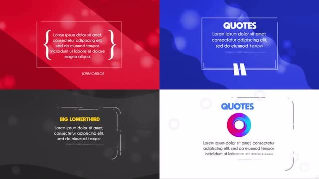 Clean Quotes Pack: After Effects Templates