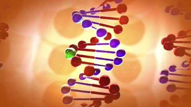 DNA Damaged By Particle: Stock Motion Graphics