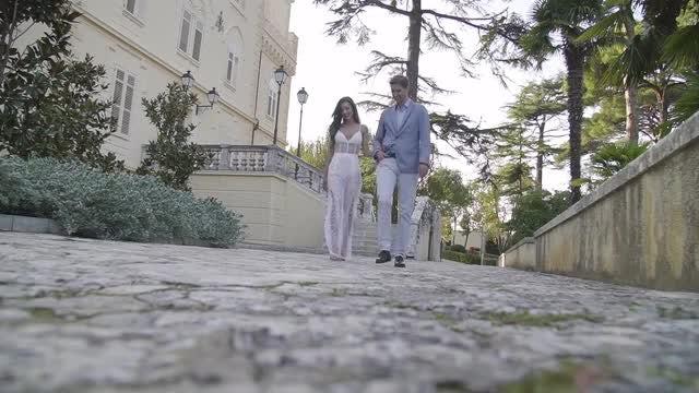 Beautiful Couple Walking: Stock Video