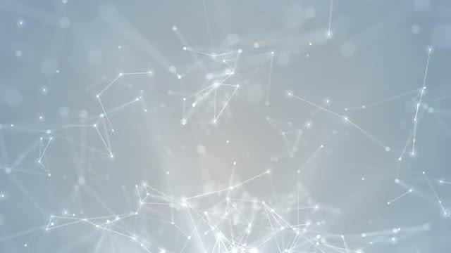 White Plexus On Gray Background: Stock Motion Graphics