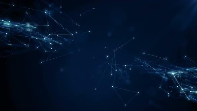 Multiple Plexus On Blue Space: Stock Motion Graphics