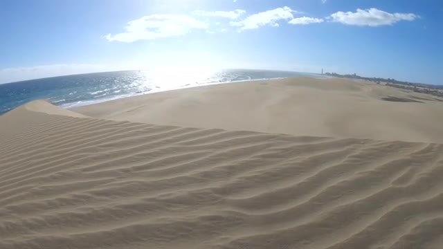 Sand Dunes At  Beach: Stock Video