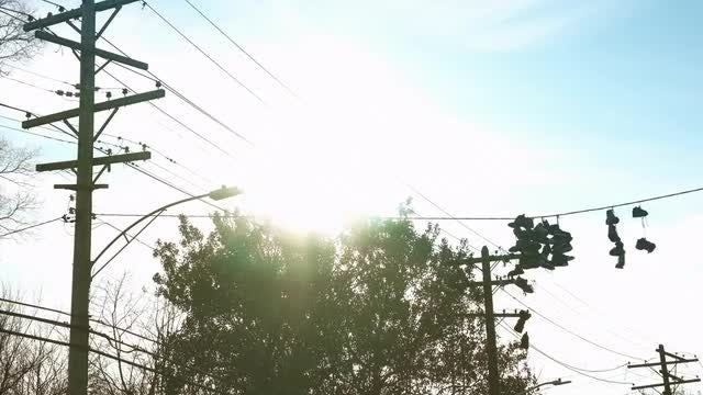 Shoes On A Wire: Stock Video