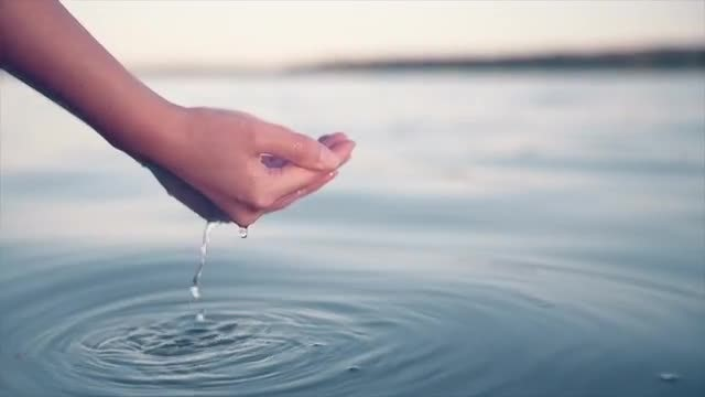 Hands In Water: Stock Video