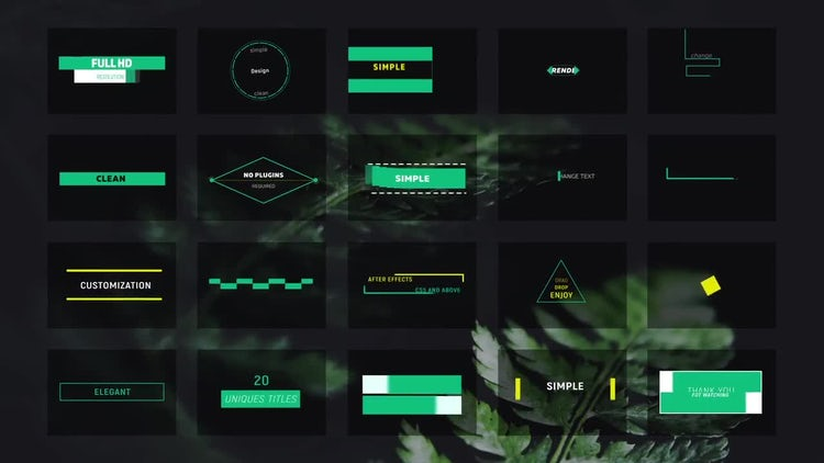 20 Minimal Titles: After Effects Templates