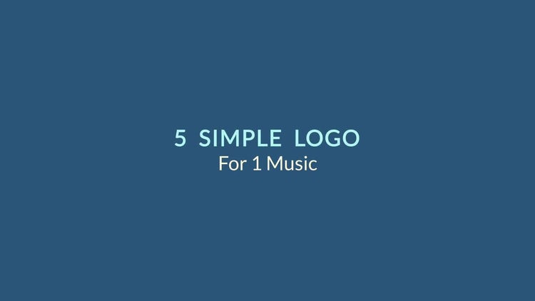 5 Simple Logo: After Effects Templates
