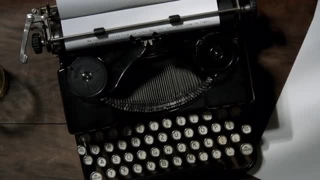 Top View Of A Typewriter: Stock Video