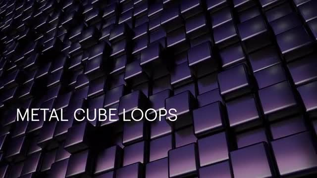Cool Metal Cube Loops: Stock Motion Graphics